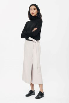Wrap-front trousers