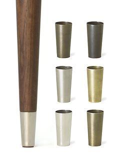 Metal Tips for Mid-Centry Modern Legs - TableLegs.com