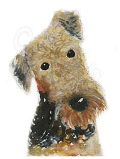 A personal favorite from my Etsy shop https://www.etsy.com/listing/230437904/airedale-terrier-dog-art-print