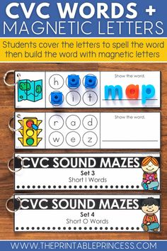 Is your CVC word practice needing a makeover? These 13 manipulatives for teaching CVC words will bring new energy to your CVC word work lessons. From hands-on and digital CVC activities to alphabet manipulatives and CVC word work games, your students will have a blast working on words. #iteachk #kindergartenteacher #kindergartenclassroom #cvcactivities #literacygames
