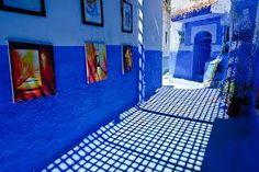 بالصور: مدينة مغربية كل شيء فيها أزرق!