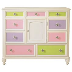 Too pricey for me, but I can see re-painting an existing dresser.  Pastels for girls, bold colors for boys.  I like it.