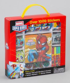 I want to play with this myself!   Take a look at this Marvel Spider-Man Sticker Activity Set by Marvel on #zulily today!
