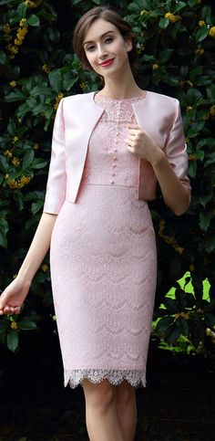 eDressit Pink Two Pieces Mother of the bride Dress