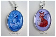Fox necklace by Amy Brown made to order by AmyBrownArt on Etsy, $18.00