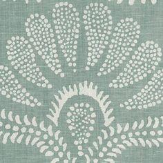 Hillevi in Aqua | Peter Fasano, LTD #textiles #fabric #linen #blue
