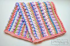 Sugar Love Crochet Baby Blanket - Free Crochet Pattern by My Merry Messy Life