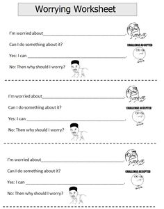 Printables Coping Skills Worksheets For Kids therapy worksheets anxiety and on pinterest worry worksheet
