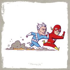 marvel vs dc - Canadian artist and unabashed comic book lover Darren Rawlings is back with a series of Marvel vs DC drawings. Each illustration features a Marvel . Marvel Dc Comics, Marvel Vs, Quicksilver Marvel, Jack Kirby, Stan Lee, Comic Books Art, Comic Art, X Men, Doctor Who