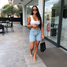 Mode Outfits, Stylish Outfits, Girl Outfits, Fashion Outfits, Spring Summer Fashion, Spring Outfits, Mode Ootd, Looks Street Style, Shorts