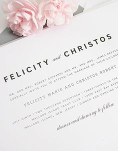 Simple, gorgeous wedding invitations #weddinginvitations #graywedding #simple #modern