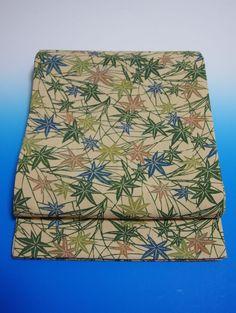 Kimono Dress Japan OBI Band used Fukuro Obi silk cross Vintage KDJM-L0086