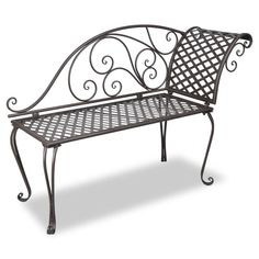 Details about Metal Garden Chaise Lounge Antique Brown Patio.- Details about Metal Garden Chaise Lounge Antique Brown Patio Chairs Outdoor Backrest Seats - Bench Furniture, Chair Bench, Metal Furniture, Garden Furniture, Outdoor Furniture, Bench Seat, Rustic Furniture, Furniture Sets, Cheap Garden Chairs