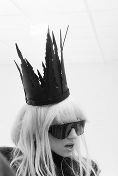 ladvsgaga: Lady Gaga on the set of Bad Romance music video.