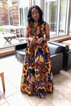 Zinzi African Print Coat Dress SHIPPING ON 20 MAY 2018 African Fabric, African Dress, African Women, African Fashion, Ankara Styles For Women, Native Wears, Aso Ebi Styles, Maxi Robes, African Design