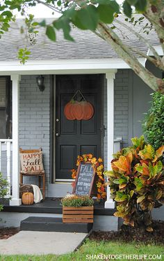 10 Fall Porch Ideas & fall decorating ideas on pinterest | Lilacs and Longhorns: Five ...