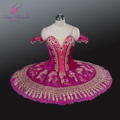 fuchsia velvet top bodice ballet costume tutu professional dance tutu women stage performance pancake ballerina tutu
