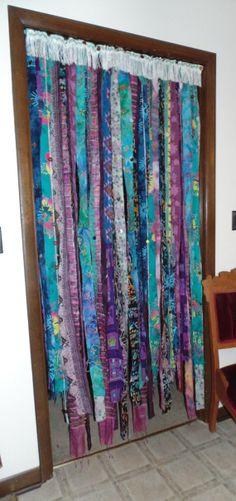 Bohemian beaded curtain door wall window by TheSleepyArmadillo, $155.00