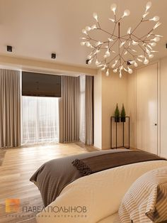Фото: Дизайн спальни - Интерьер квартиры в современном стиле, ЖК «Дом у березового сада», 168 кв.м.