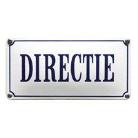 Emaille bord Directie