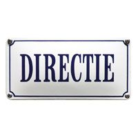 Emaille bord Directie