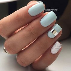 Jamberry Hint of Mint Lacquer and wraps Metallic Silver Chrome and Sculpted