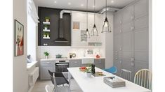 Tips For Complete Kitchen Renovations Scandinavian Apartment, Scandinavian Kitchen, Scandinavian Interior Design, Scandinavian Style, Lovely Apartments, Two Bedroom Apartments, Patio Interior, Kitchen Interior, Kitchen Renovation Cost