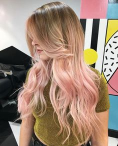 Long bronde to pastel pink ombre hair blonde pink balayage, blonde hair wit Blonde Pink Balayage, Blonde Hair With Pink Highlights, Blonde To Pink Ombre, Rosa Highlights, Red Pink Hair, Best Ombre Hair, Pastel Pink Hair, Blonde With Pink, Brown Ombre Hair