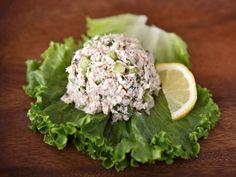 Healthy Mediterranean Tuna Salad (no mayo) on a kale salad.