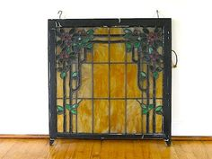 Antique Stained Glass Lead WIndow, Victorian House Stained Glass Window, Antique Stained Glass Church Window, Restoration Home Decor,. $395.00, via Etsy.