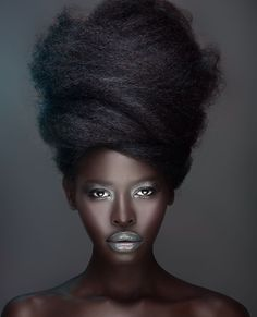 Hair - Beehive - Photography - Portrait Beauty is only skin deep! Hair Afro, Hair Wigs, Pelo Natural, Au Natural, Natural Texture, Photo Portrait, My Black Is Beautiful, Gorgeous Hair, Beautiful Women
