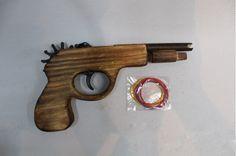 1 개/대 장난감 총 나무 장난감 고무 밴드 총알 총 무기 권총 Pistola 장난감 총