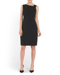 Asymmetrical Neck Sheath Dress