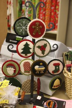 Christmas Wool Ornaments