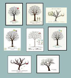 Printable  Wedding Guest Book PDF Poster File  por YourKeepsakeCo