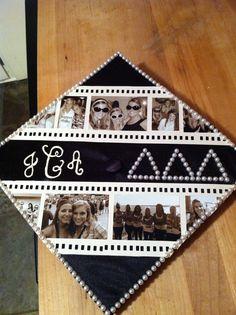 But with monogram and major Sorority Graduation Caps, Graduation 2016, Graduation Cap Designs, Graduation Cap Decoration, Grad Cap, Graduation Ideas, Family Tree Records, Abi Motto, Senior Pranks
