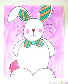 Are you searching for the perfect arts and craft activity for Easter? This Easter Bunny directed drawing provides teachers with an easy to teach lesson that Kindergarten and primary kids will love! Bunny Drawing, Bunny Art, Drawing For Kids, Art For Kids, Drawing Hair, Drawing Drawing, Drawing Faces, Drawing Tips, Drawing Ideas