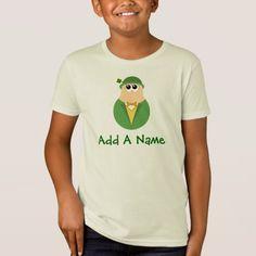 St Patrick's Day Personalized Leprechaun Kids Tee