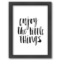 "Americanflat ""Enjoy The Little Things"" Framed Wall Art, Multicolor"