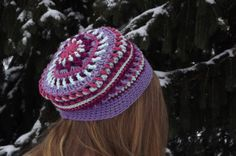 Made to order Hand Crocheted Slouchy hat Multi by WillowPrairie, $32.00 This a very unique hat. It is very colorful and has a beautiful design. This is one of my favorit hats i have made so far!! It is so different from any other hat I have seen!!