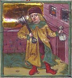 Astrologisch-astronomisch-mantische Sammelhandschrift / Heidelberger Schicksalsbuch Illustrationen: Berthold Furtmeyr und Werkstatt (Thomas Schilt? Cod. Pal. germ. 832 [Regensburg], nach 1491 Folio 40r