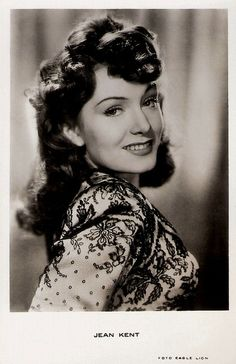 """""""Jean Kent (1921) is a strawberry-blonde British actress who played spiteful hussies or femmes fetales in British films of the 1940s and 1950s."""" #vintage #actress #1940s #1950s #movies #films"""