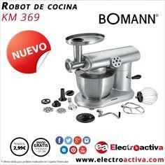 ¡¡Bate,amasa,pica todo en uno para tu cocina!! Robot de Cocina BOMANN KM 369 http://www.electroactiva.com/bomann-robot-de-cocina-km-369.html #Elmejorprecio #RobotdeCocina #Electrodoméstico #PymesUnidas