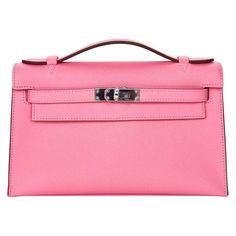 11f866467e87 HERMES KELLY POCHETTE ROSE CONFETTI CLUTCH BAG EPSOM PHW JaneFinds 1 Pink  Handbags