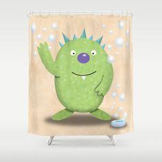 Monster Bathroom - Shower Curtain