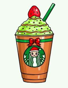 How to Draw a Starbucks Christmas Frappuccino Easy Kawaii Disney, Anna Disney, Disney Frozen, Frozen 2, Kawaii Girl Drawings, Cute Food Drawings, Cute Little Drawings, Doodles Kawaii, Chibi Kawaii