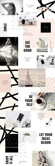 Feeds Instagram, Instagram Grid, Instagram Design, Pink Instagram, Instagram Layouts, Instagram Posts, Web Design, Grid Design, Layout Design