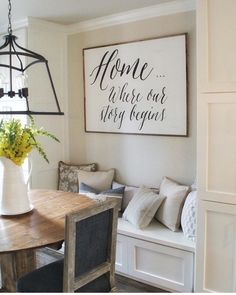 Check Out 27 Impressive Dining Room Wall Decor Ideas. We are currently renovating our house, so my parents thought of adding a new dining space at home. Muebles Living, Décor Antique, Wall Decor, Room Decor, Wall Art, Home Signs, Diy Signs, First Home, My Dream Home