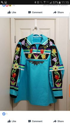 Pow wow shirts Native American Clothing, Native American Regalia, Nice Clothes For Men, Applique Skirt, Powwow Regalia, Jingle Dress, Ribbon Skirts, Bead Sewing, Beadwork
