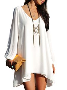 Loose Long Sleeve Shift Dress. Get awesome discounts up to 70% Off at Milanoo using Coupon & Promo Codes.